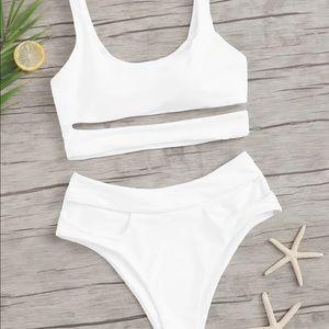 White Cutout Bikini